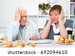 husband and wife having no... | Shutterstock . vector #692094610
