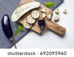 creative layout of whole and... | Shutterstock . vector #692095960