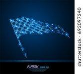 abstract polygonal light finish ... | Shutterstock .eps vector #692097340