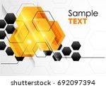 vector abstract geometric... | Shutterstock .eps vector #692097394