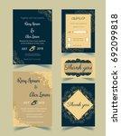 wedding invitation design... | Shutterstock .eps vector #692099818