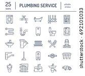 plumbing service vector flat... | Shutterstock .eps vector #692101033