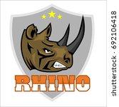 rhinoceros head logo sport | Shutterstock .eps vector #692106418
