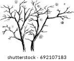 trunks of bare trees. graphic... | Shutterstock .eps vector #692107183