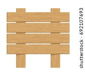 vector wooden sign isolated on... | Shutterstock .eps vector #692107693
