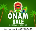 happy onam  harvest festival... | Shutterstock .eps vector #692108650