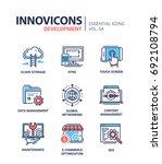 web page development   modern... | Shutterstock .eps vector #692108794