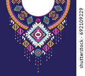 textile design for collar... | Shutterstock .eps vector #692109229