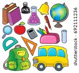 school related objects... | Shutterstock .eps vector #692111236