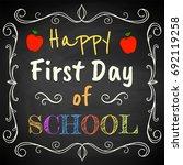 happy first day of school....   Shutterstock .eps vector #692119258