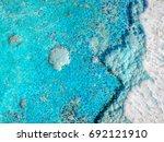 turquoise enamel backdrop for...   Shutterstock . vector #692121910