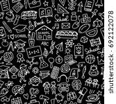 back to school  seamless... | Shutterstock .eps vector #692122078