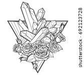alchemic element of earth sign. ...   Shutterstock .eps vector #692123728