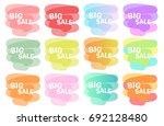 collection symbols big sale... | Shutterstock .eps vector #692128480