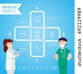 medical health and healthcare... | Shutterstock .eps vector #692129989