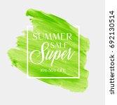 summer sale sign over... | Shutterstock .eps vector #692130514