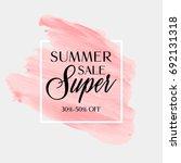 summer sale sign over... | Shutterstock .eps vector #692131318