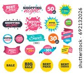 sale shopping banners. sale... | Shutterstock .eps vector #692132026