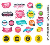 sale shopping banners. sale... | Shutterstock .eps vector #692132083