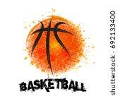 vector grunge basketball   t... | Shutterstock .eps vector #692133400