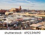 jamaa el fna market square ...   Shutterstock . vector #692134690