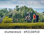 osinniki  russia   july 28 ... | Shutterstock . vector #692136910
