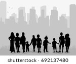 vector  isolated silhouette of... | Shutterstock .eps vector #692137480