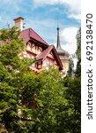 romantic architecture of... | Shutterstock . vector #692138470