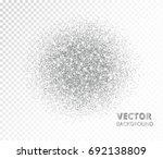 sparkling circle  silver... | Shutterstock .eps vector #692138809