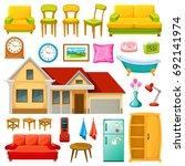 furniture icons set | Shutterstock .eps vector #692141974