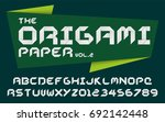 origami paper craft style fold... | Shutterstock .eps vector #692142448