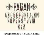 vector alphabet set. capital... | Shutterstock .eps vector #692145283