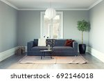 modern living room interior. 3d ... | Shutterstock . vector #692146018