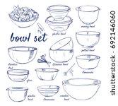 Doodle Set Of Bowls   Plastic ...
