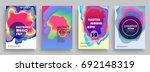 electro summer wave poster....   Shutterstock .eps vector #692148319