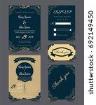wedding invitation design... | Shutterstock .eps vector #692149450