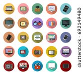 screen and monitor icons | Shutterstock .eps vector #692149480