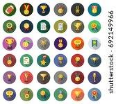 winner icons | Shutterstock .eps vector #692149966