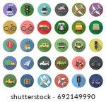 transport icons | Shutterstock .eps vector #692149990