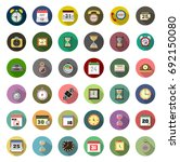 time icons | Shutterstock .eps vector #692150080