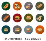 sandwich icons | Shutterstock .eps vector #692150239