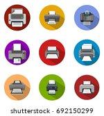 printer icons | Shutterstock .eps vector #692150299