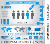 human resources icon set and... | Shutterstock .eps vector #692150860