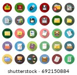 file and folder icons | Shutterstock .eps vector #692150884