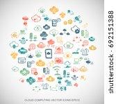 multicolor doodles flat hand... | Shutterstock .eps vector #692151388