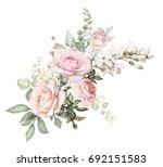 Watercolor Flowers Arrangement...