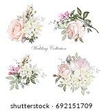 watercolor flowers. floral... | Shutterstock . vector #692151709