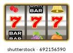 triple seven number on slot...   Shutterstock .eps vector #692156590