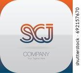logo letter combinations s  c... | Shutterstock .eps vector #692157670
