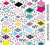 geometric elements memphis... | Shutterstock .eps vector #692158444